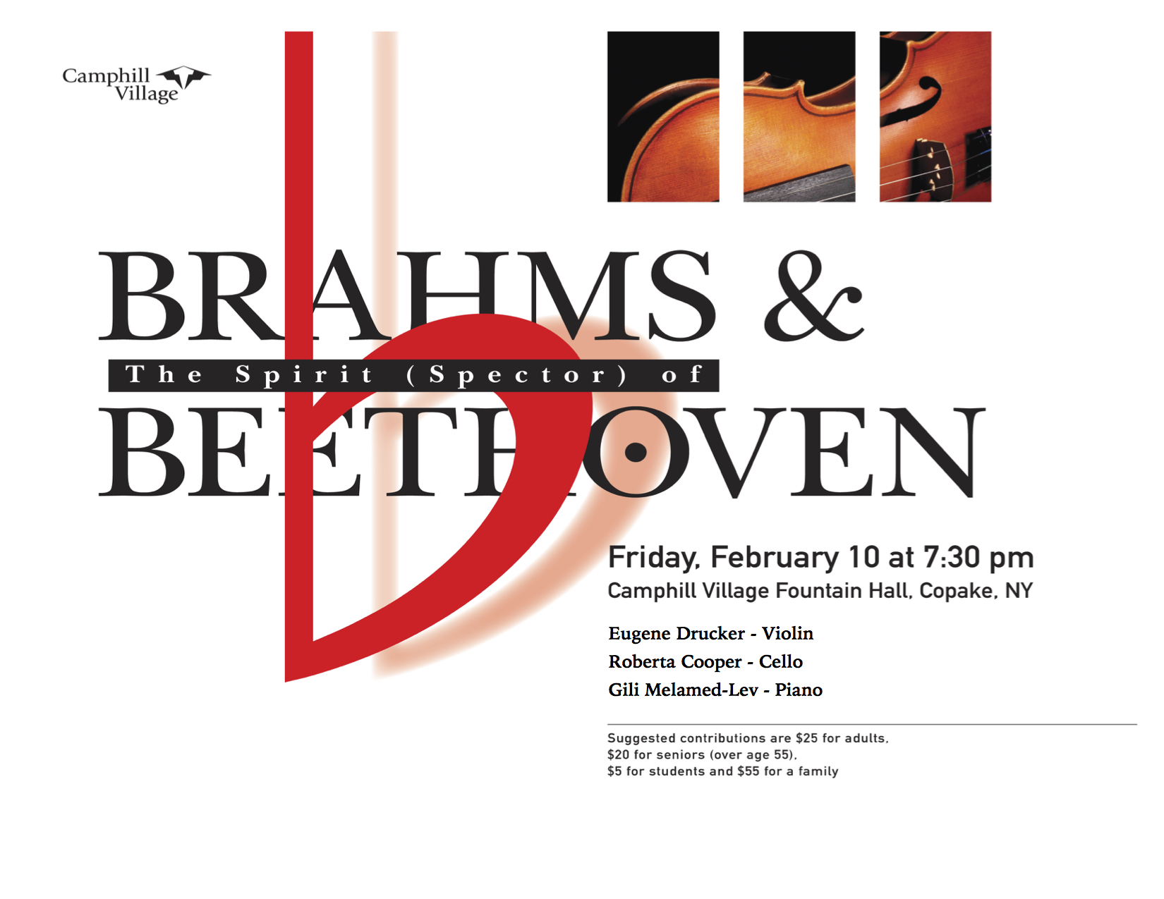 Brahms Concert at Fountain Hall